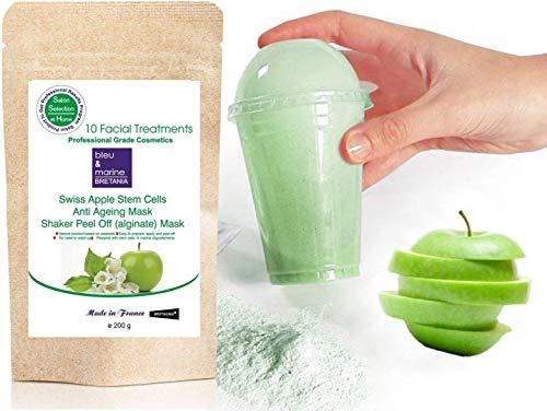Maschera Peel Off Shaker Anti-Età alle Cellule Staminali Vegetali di Mela Svizzera 200 g + Shaker Incluso - by bleumarine Bretania