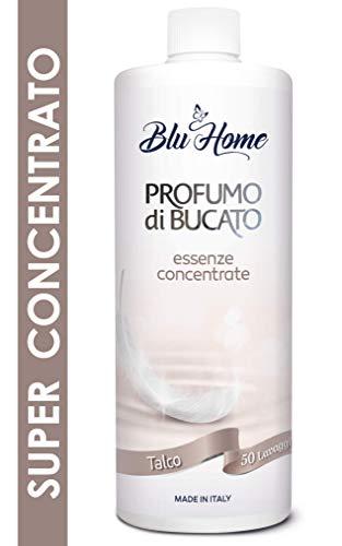 Blu Home Essenza Profuma Bucato, Profumo per Bucato, Essenza Bucato a Lunga Durata, Super Concentrato per Lavatrice (Talco, 500 ml)