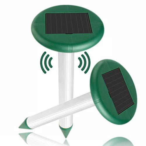 munloo 2 Pezzi di Talpa Repellente, Talpe Ultrasuoni Solare, Impermeabile, Repellente Topi, Scaccia Talpa, Anti Insetti per Il Giardino (Verde)