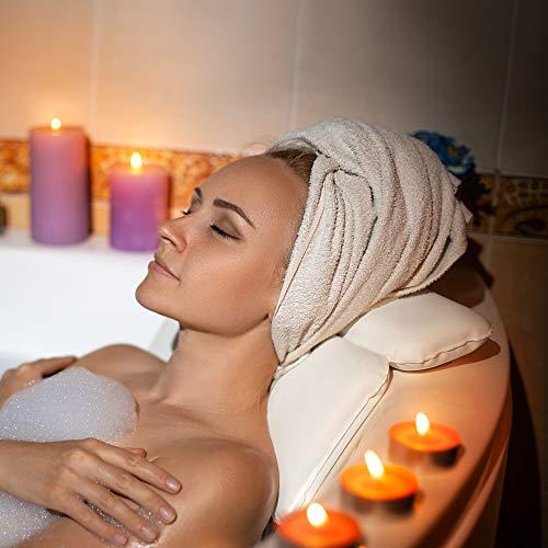 Laneta ZenHome - Cuscino per vasca da bagno con imbottitura in schiuma speciale di alta qualità
