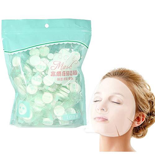 Lezed Compresse per maschera facciale naturale fai da te in cotone Panno di Cotone di Compressione Maschera Foglio maschera DIY monouso maschere viso in tessuto skin care (100 pcs)