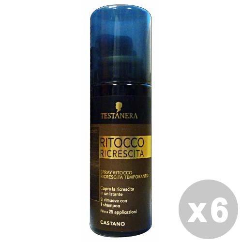 TESTANERA Set 6 TESTANERA Ritocco Ricrescita Spray Castano 120 ml