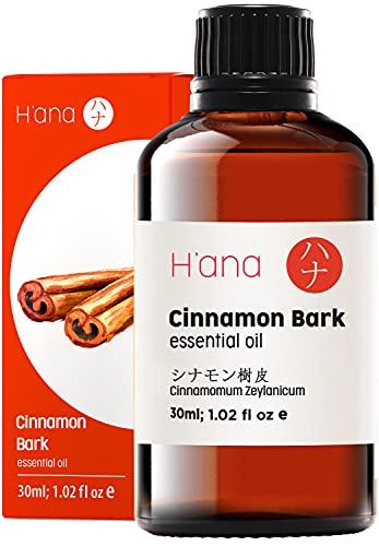 Hana Olio essenziale di corteccia di cannella - Aumenta l'energia e lenisce i dolori muscolari - per allenamenti più forti - Grado terapeutico puro 100 per aromaterapia e uso topico - 30 ml