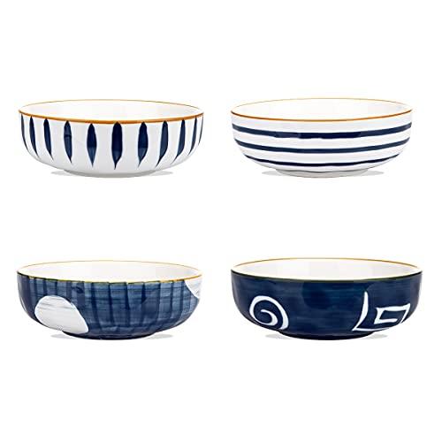 MDZF SWEET HOME Set di ciotole per cereali, insalatiera, ciotola per pasta, ciotola in porcellana, ciotola con motivo giapponese