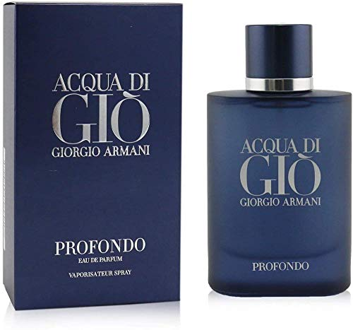Armani Acqua di Gio Profondo Eau de Parfum, Blu, 75 Ml