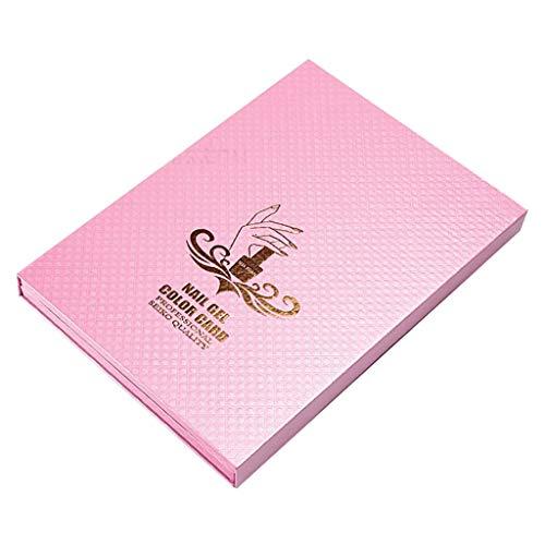 Perfeclan 120 Espositore per Nail Art per Tabella Colori Smalto Gel Da Salone con Punte per Unghie 120 Pezzi - Rosa