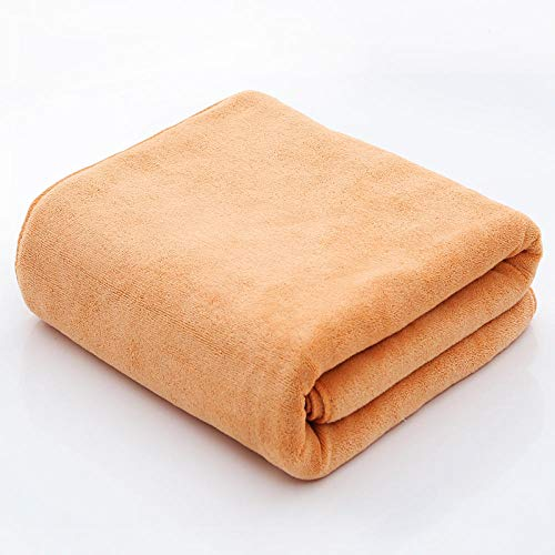 GBYJ Teli Bagno Asciugamano da Bagno Grande Salone di Bellezza Grande Spessore Asciugamano Morbido Assorbente Grande Asciugamano con Teli pediluvio Asciugamano-Zenzero Giallo_190x90cm