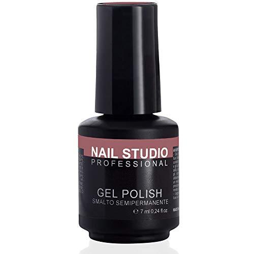 Nail Studio - Smalto per Unghie Professionale Gel Polish Semipermanente Mani e Piedi - Durata 4 Settimane - Colore Puce 79