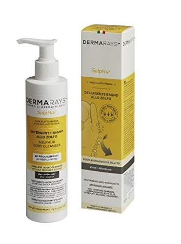 Dermarays Sulphur 250 ml detergente allo zolfo