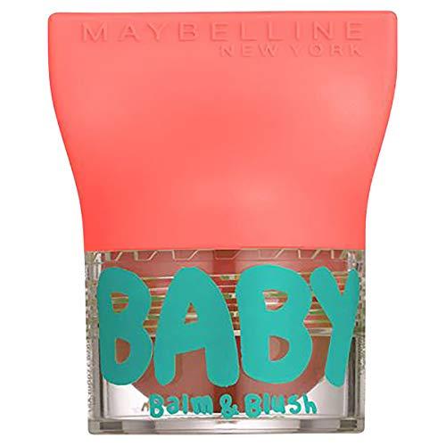 Maybelline New York Baby Lips Balm&Blush Balsamo Labbra e Blush, 1 Innocent Peach