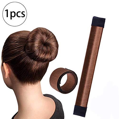 Xiton 1 PC Ciambella Per Chignon Hair Magic Chignon Accessorio Per Capelli Fai Da Te Hair Styling Tool Chignon Facile Per Capelli Per Le Donne Ragazze(Marrone)
