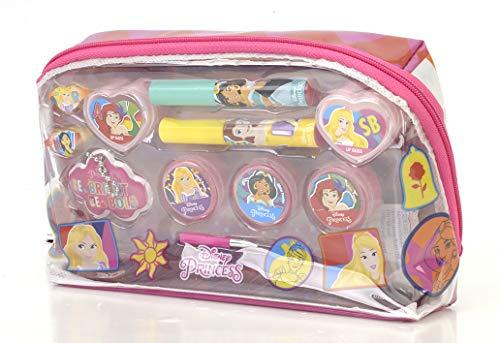 Markwins Disney Princess Essential Makeup Bag - Set Trucchi Per Bambine - Beauty Case Trousse Principesse Disney Con Kit Trucchi E Accessori Colorati - Giochi E Regali Per Bambini - 120 g