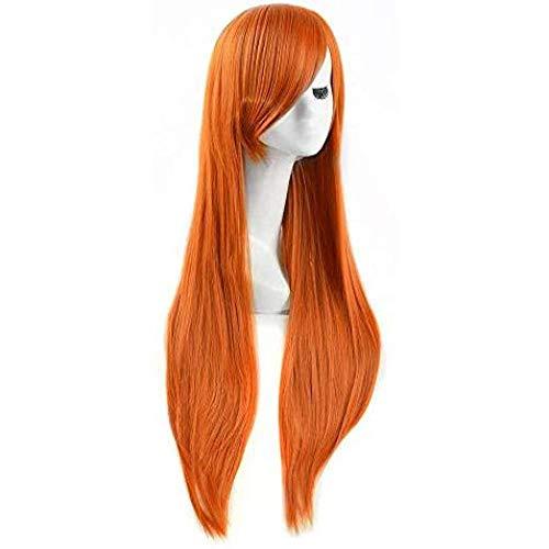 Parrucca Spicy Girl Kim Possible Arancione Arancione Parrucca Cosplay Lungo Rettilineo Fashion Pretty