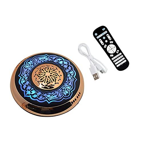 POHOVE Corano Altoparlante Bluetooth Corano Altoparlante Lampada con Telecomando Olio Essenziale Diffusore Luce con Controllo APP Lampada Corano Recitazione Traduzione in Molte lingue