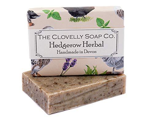Clovelly Soap Co Saponetta Esfoliante Naturale alla Lavanda, Consolida e Ortica, 100gr, per tutti i tipi di pelle.