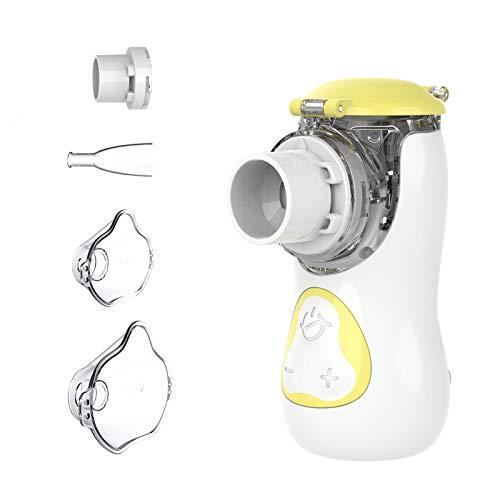Feellife Aerosol Silenzioso con Nebulizzatore Portatile, Inalatore apparecchio da viaggio, per Bambini e Adulti, con Boccaglio e Maschera, Ricaricabile USB