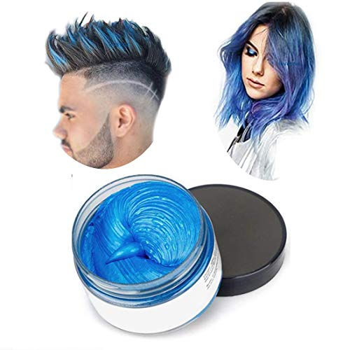Hair Colour Cera, acconciatura opaca naturale per la festa.Cosplay, Halloween (blu)