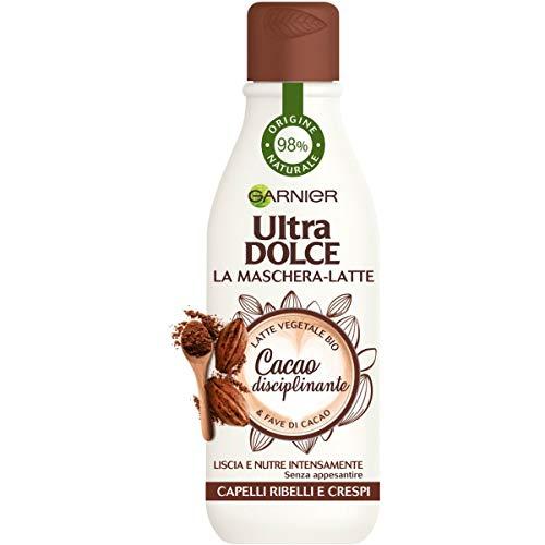 Garnier Ultra Dolce Maschera-Latte con Fave di Cacao, Liscia e Nutre i Capelli senza Appesantire