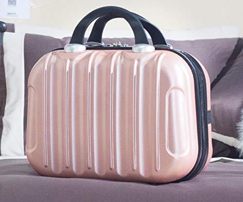 DIIYer-Bu - Valigetta rigida per cosmetici, bagaglio a mano, beauty case, organizer da viaggio 35,5 cm Rose Gold