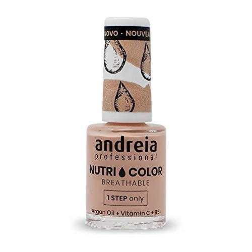 Andreia Professional NutriColor - Smalto per unghie Vegan Traspirante - Colore NC8 Nudo - 10.5ml