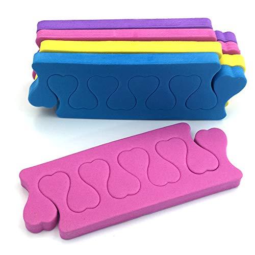 Beito Separatori Di Dita 12 Coppie Soft Foam Toe Separators Sponge Finger Separators Toe Divisori Nail Manicure Pedicure Strumenti Per Salone O Uso Domestico (Multicolore)