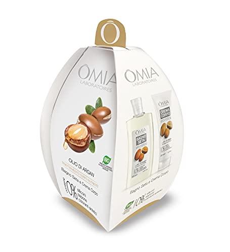 Omia - Ovetto Corpo Olio d'Argan, Contiene Bagnoschiuma e Crema Corpo, Nutriente e Idratante con Vitamina E e A, Dematologicamente Testato