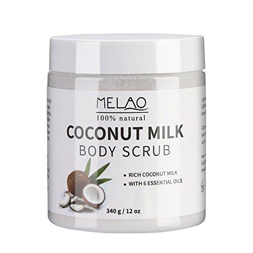 Scrub corpo esfoliante al latte di cocco e sale del Mar Morto idratante viso scrub e maschera dal corpo puro
