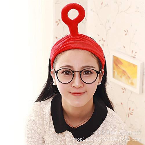 Fascia per capelli Teletubbies, fascia creativa, fascia per capelli, prodotti per il lavaggio del viso per i coinquilini-Onda rossa