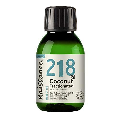 Naissance Olio di Cocco Frazionato Certificato biologico 100ml – puro al 100%, Vegano, senza OGM, Idratante per la Pelle e i Capelli