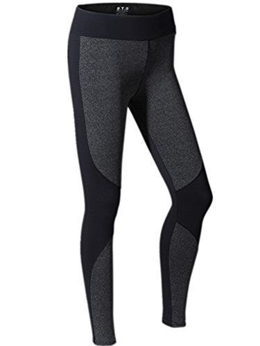 YeeHoo Women's Quick Dry Stretch Sport Corrida Leggings Calzamaglia di Yoga
