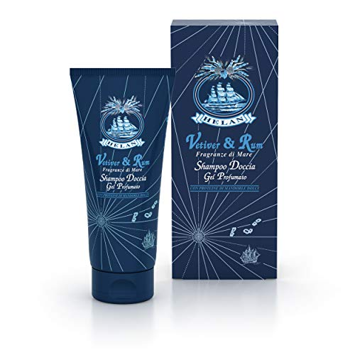 Helan Vetiver Rum Shampoo Doccia Gel Profumato, 200 ml