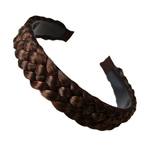 PRETTYSHOP Pezzo Fascia per capelli intrecciato treccia dei capelli della fascia marrone mix # 4 / 30A HR6