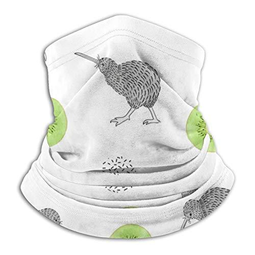 Modello senza cuciture Acquerello Kiwi Uccello Kiwi Animale selvatico Kiwi Animale selvatico Natura Kiwi Maschera da sci Maschera da sci per il freddo Scaldacollo Cappuccio in pile Cappelli invernali