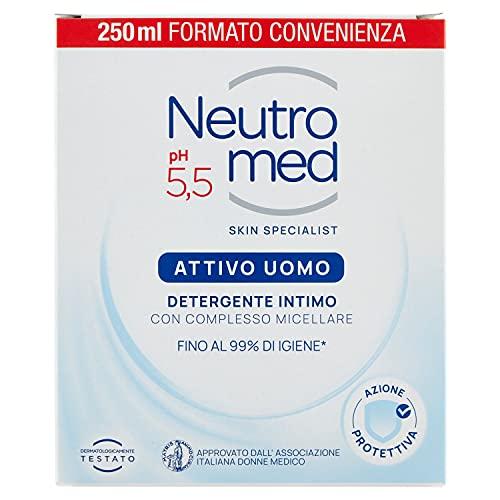 Neutromed Detergente Intimo Attivo per Uomo, 250 ml