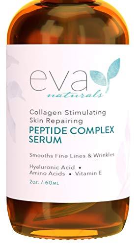 Siero al complesso peptidico - Miglior siero viso antietà, Riduce le rughe ed aumenta il collagene (2oz)