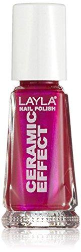 Layla Cosmetics 1243R23-074 Smalto, Effetto Ceramica, Tonalità 74 Pop Pink