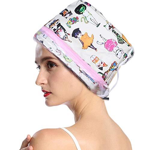 Cuffia elettrica per capelli Cuffia termica per capelli Spa Trattamento termico per capelli a casa Berretto per spa di bellezza Cappello nutriente per la cura dei capelli 3 ingranaggi Cappuccio (io)