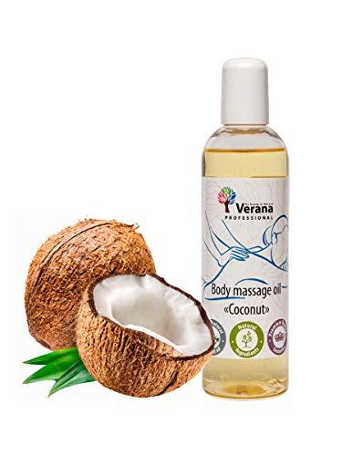 Verana Olio Per Massaggi Сocco, Naturale, Senza OGM, Per il Corpo, Massaggio Ringiovanente e Rivitalizzante, dà Emozioni Positive, Aromaterapia 250ml