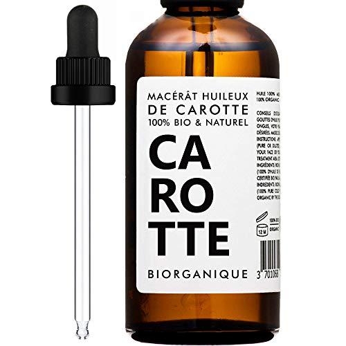 Macerato oleoso di carota BIOLOGICO - 100% Puro, Naturale, Vegano e Biologico - 50 ml - Cura per Viso e Pelle.