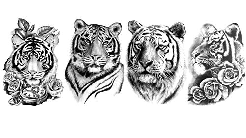 Tatuaggi a forma di tigre, per braccio, per la parte superiore del braccio, tatuaggi, Siberia 4