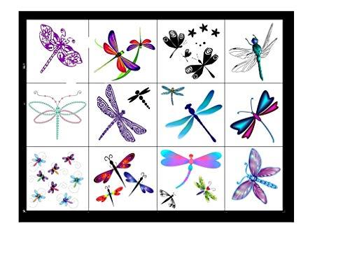 Tatuaggi temporanei di uccelli farfalla ape Bee Butterfly Birds Temporary Tattoos (Libellula tatuaggi Dragonfly Tattoos)
