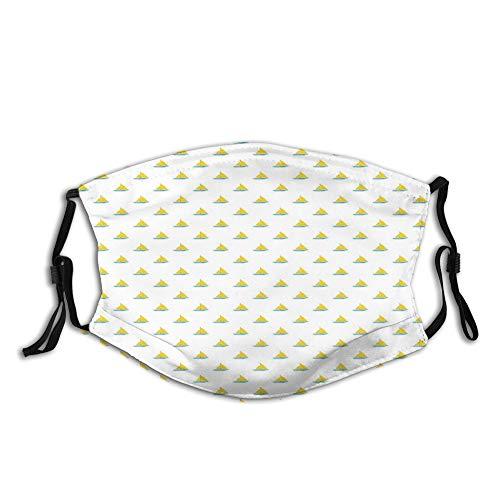 LESKETH Confortevole, antivento, design moderno, stile semplice, vela in tela con tuorlo d'uovo, decorazioni per il viso per unisex
