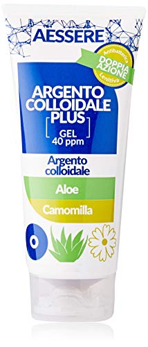 Aessere Argento Colloidale Plus Gel, 100 ml, Aloe e Camomilla, 40 Ppm