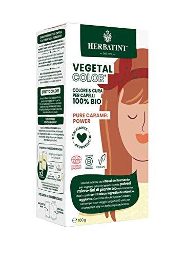 Herbatint Vegetal Color – Colorazione vegetale 100% naturale e bio PURE CARAMEL POWER – Caramello 100 gr