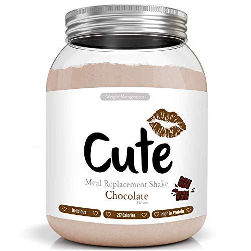 Cute Nutrition Shake Al Cioccolato Sostitutivi del Pasto per la Perdita e Controllo di Peso Bevanda Dietetica Dimagranti per Donne 500g