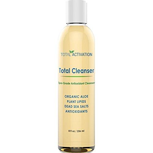 Total Activation naturale del viso e corpo exfoliator e gel detergente delicato ogni giorno per esfoliare la pelle 8 oz