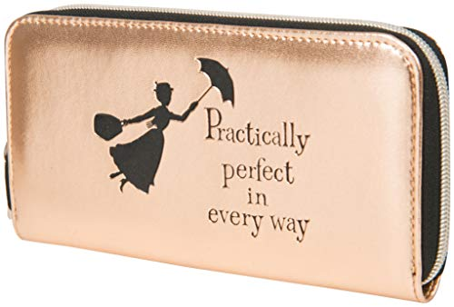 Disney Pochette Elegante Donna Mary Poppins, Portafogli Finta Pelle