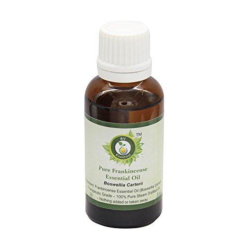 R V Essential Puro Frankincense Essenziale Olio 30ml (1.01oz)- Boswellia Carterii (100% Puro e Naturale Steam Distilled) Pure Frankincense Essential Oil