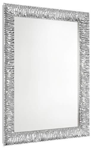 70 cm L x 90 cm A Specchio per Il Trucco//Grande Specchio da Parete Ovale smussato Rotondo Semplice e aerodinamico Pannello in Vetro specchiato Arrotondato con Retro Argento Vanity Camera da Letto