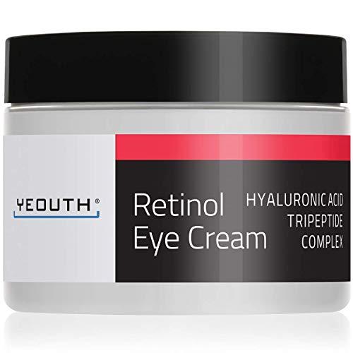 Crema per gli Occhi al Retinolo 2.5% di YEOUTH Potenziata con Retinolo, Acido Ialuronico. (1oz)